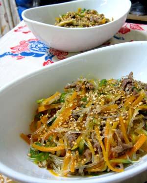 韓国料理チャプチェ