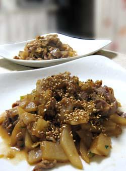 大根と豚の炒め煮