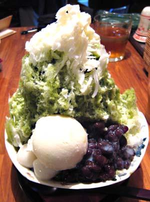 緑茶かき氷