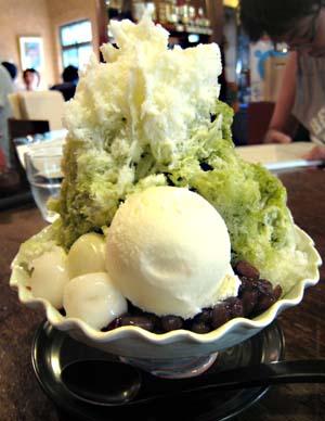 伽藍堂(からんどう)緑茶かき氷