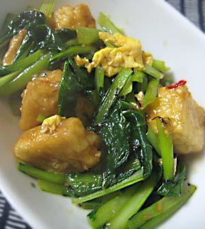 小松菜と豆腐の中華風炒め