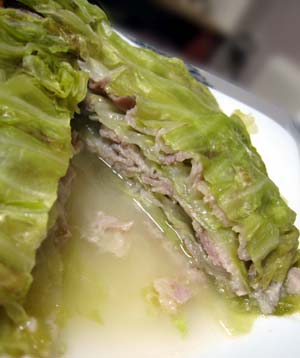 塩ダレバラ肉とキャベツのミルフィーユ2