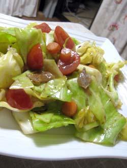 余り野菜のアンチョビオイル炒め