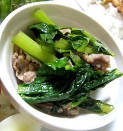 小松菜と豚のあっさり煮
