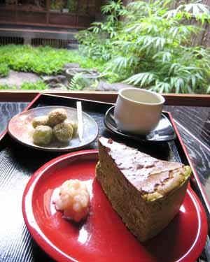 煎茶・抹茶チーズケーキ