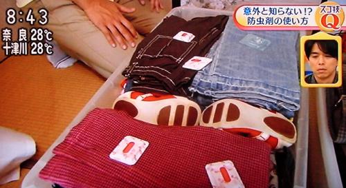 衣替えのお悩み:虫食い対策について(あさイチより)